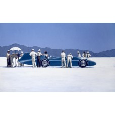 Bluebird at Bonneville - Box Canvas