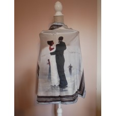 Dance me to the End of Love Square Silk Scarf