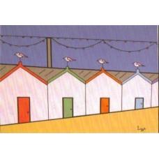 Paighton Beach huts (Mounted Print)
