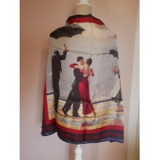 The Singing Butler Square Silk Scarf